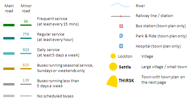 Bus Services in York Maps